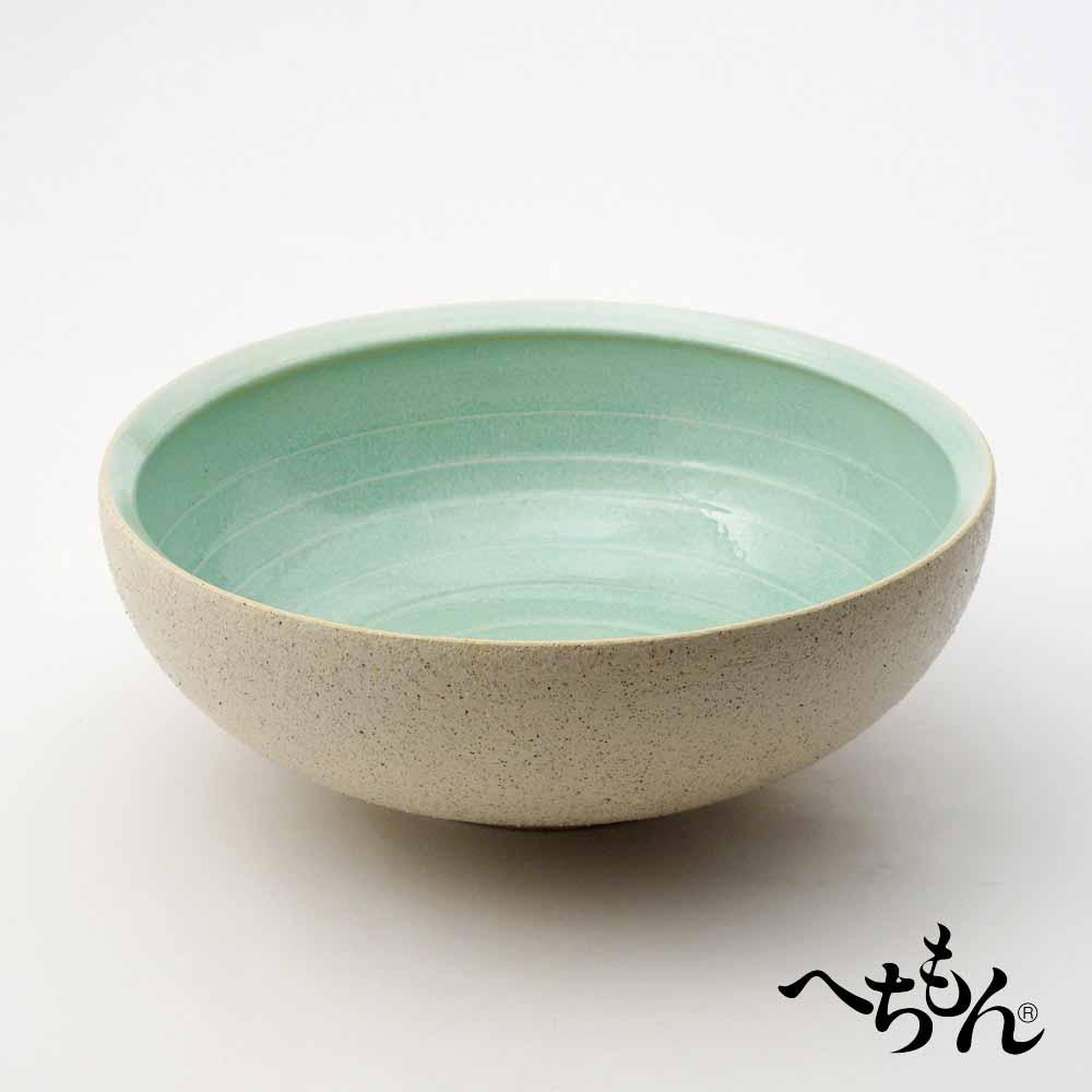 【送料無料】【信楽焼】へちもん 白あさぎ 平水鉢