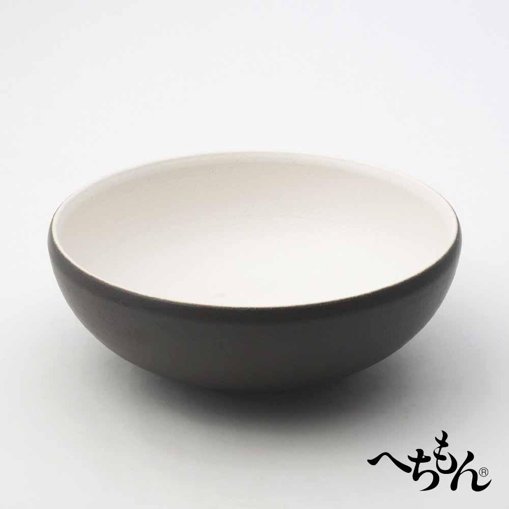 【送料無料】【信楽焼】へちもん 黒妙 平水鉢