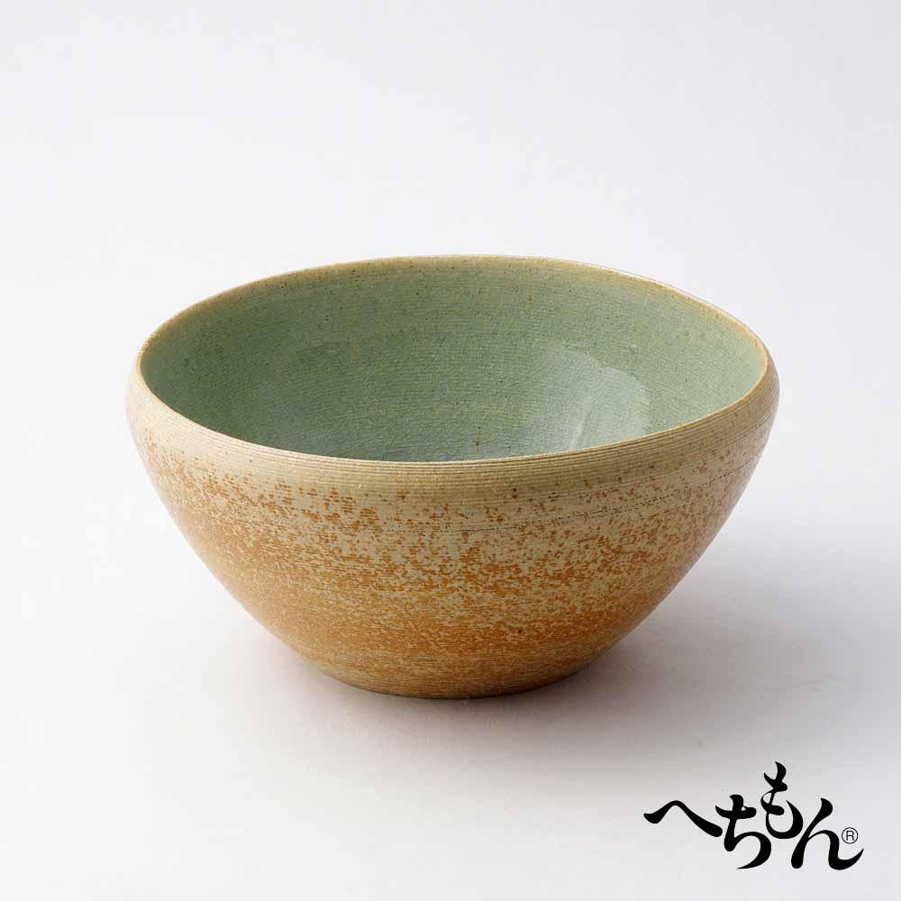 【送料無料】【信楽焼】へちもん 青萩流し たわみ水鉢