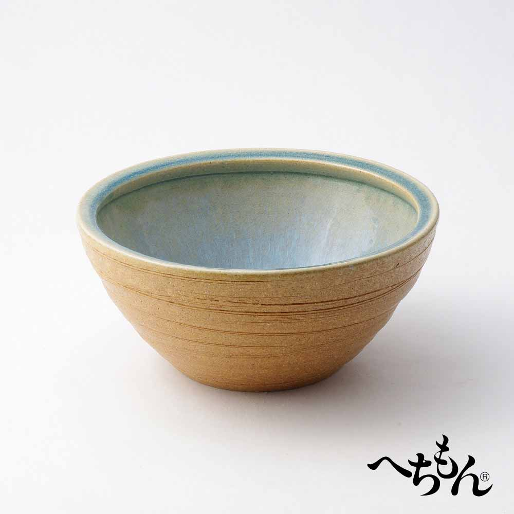【送料無料】【信楽焼】へちもん 水鉢 青萩流し