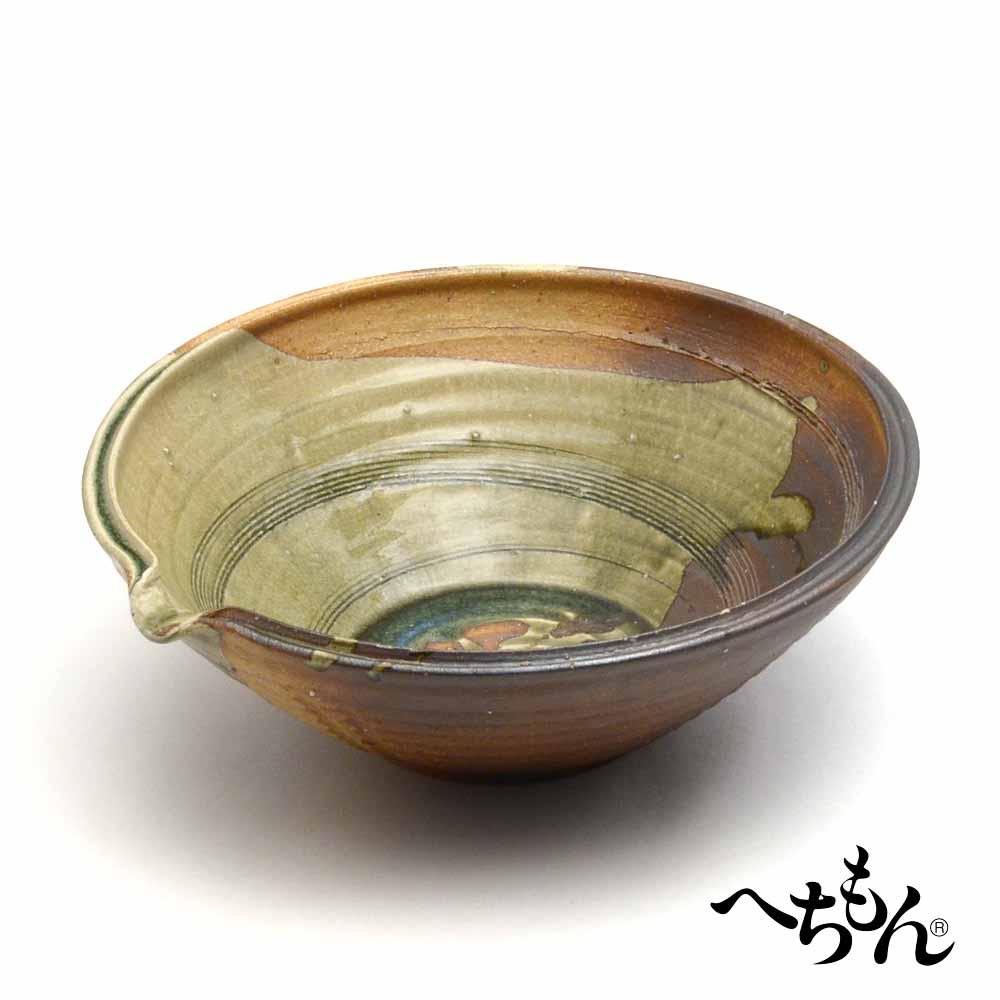 【送料無料】【信楽焼】へちもん 古信楽 片口大鉢