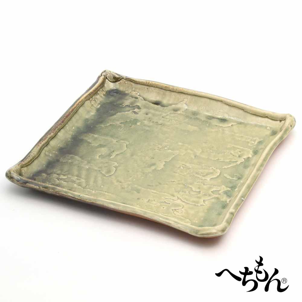【送料無料】【信楽焼】へちもん 古紫香楽 角大皿