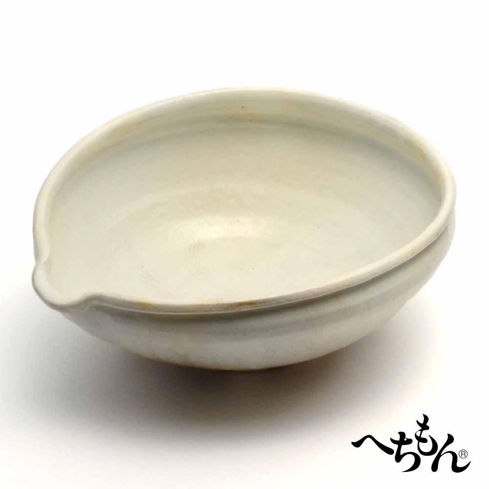 【送料無料】【信楽焼】へちもん 粉引窯変 櫛目盛鉢