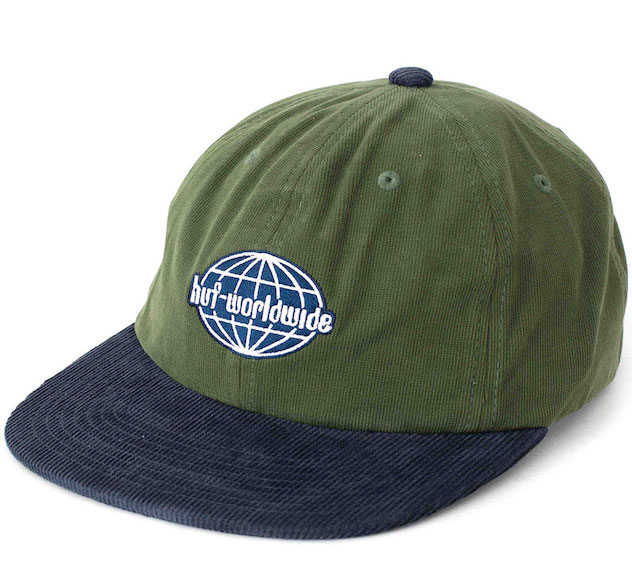 HUF Global Corduroy 6 Panel 格安SALEスタート ショップ 送料無料 Cap Hat Basil キャップ