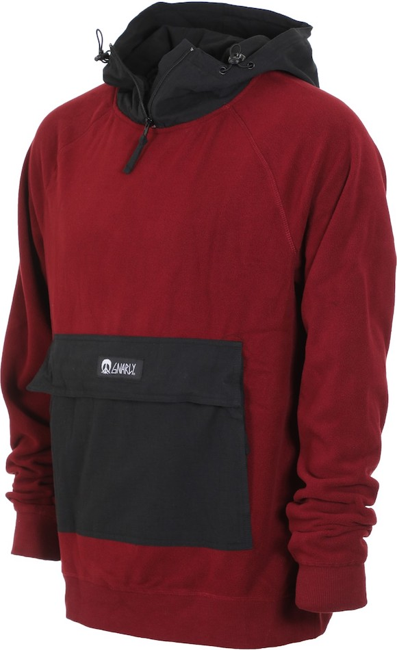 Gnarly Polar Pullover Hoodie Burgundy M パーカー 送料無料