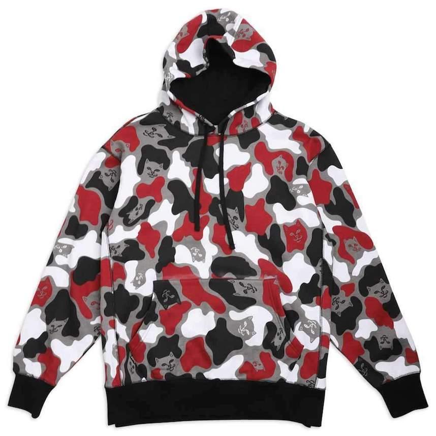 Ripndip Nermcamo Pullover Hoodie Multi Red XL パーカー 送料無料