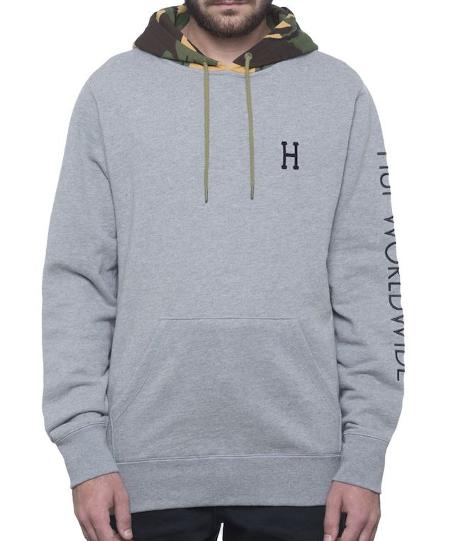 HUF Voyage Pullover Hoodie Athletic Heather S パーカー 送料無料