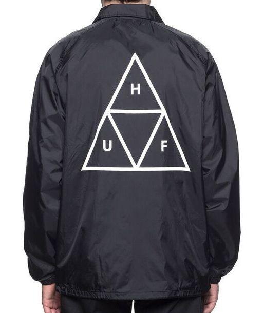 HUF Triple Triangle Coaches Jacket Black M コーチジャケット 送料無料