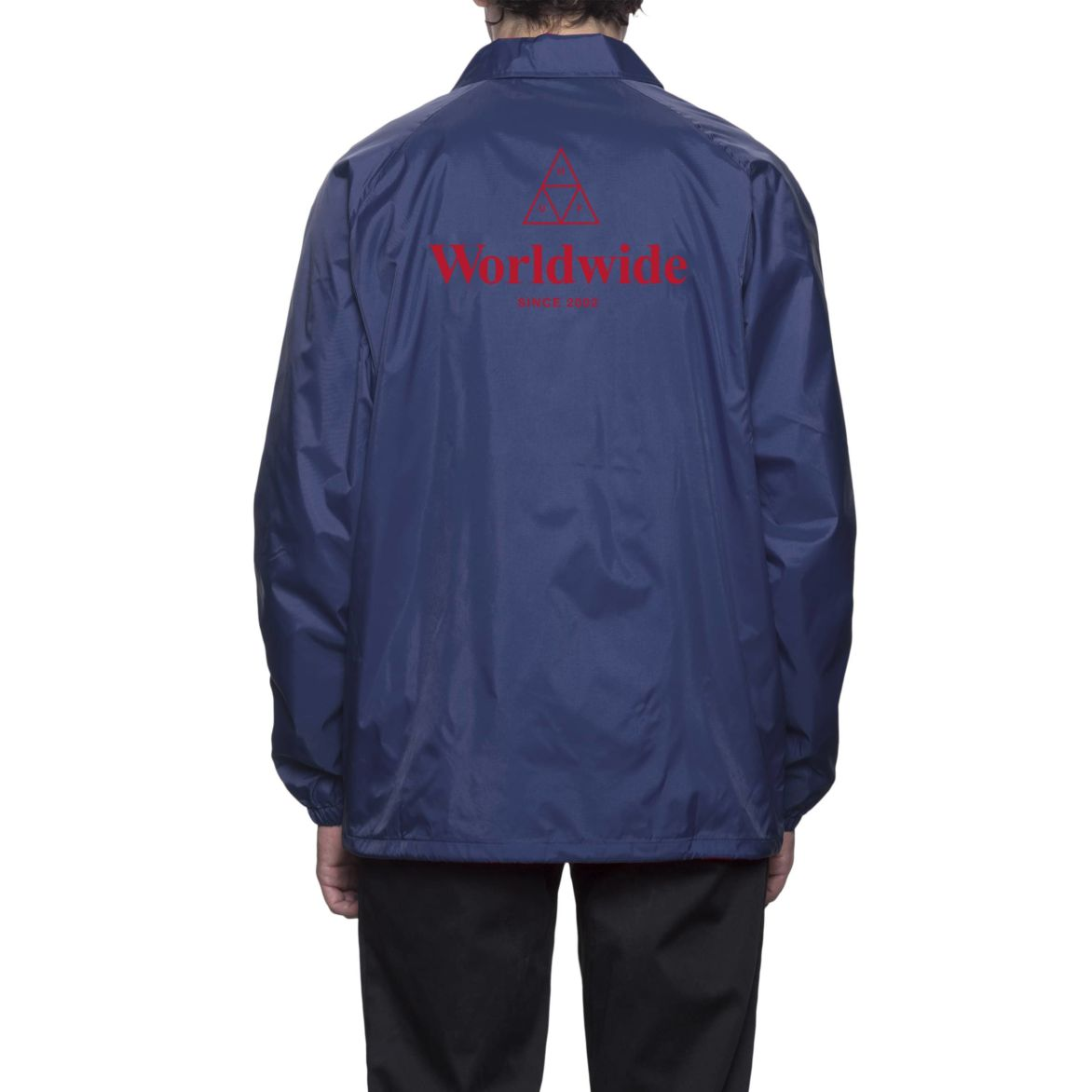HUF WW Coaches Jacket Navy M コーチジャケット