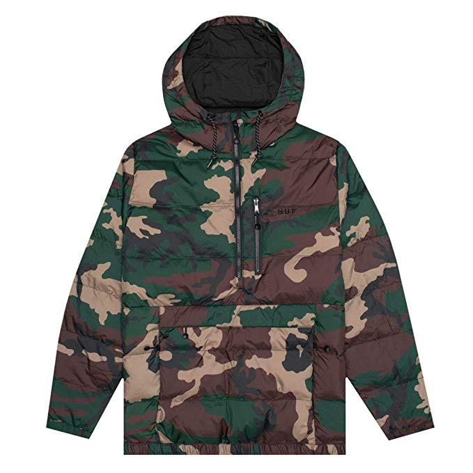 HUF Everest Jacket Woodland Camo S 送料無料