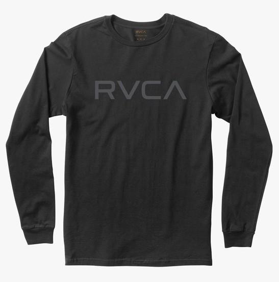 RVCA Big RVCA Long Sleeve T-Shirt Black M 送料無料