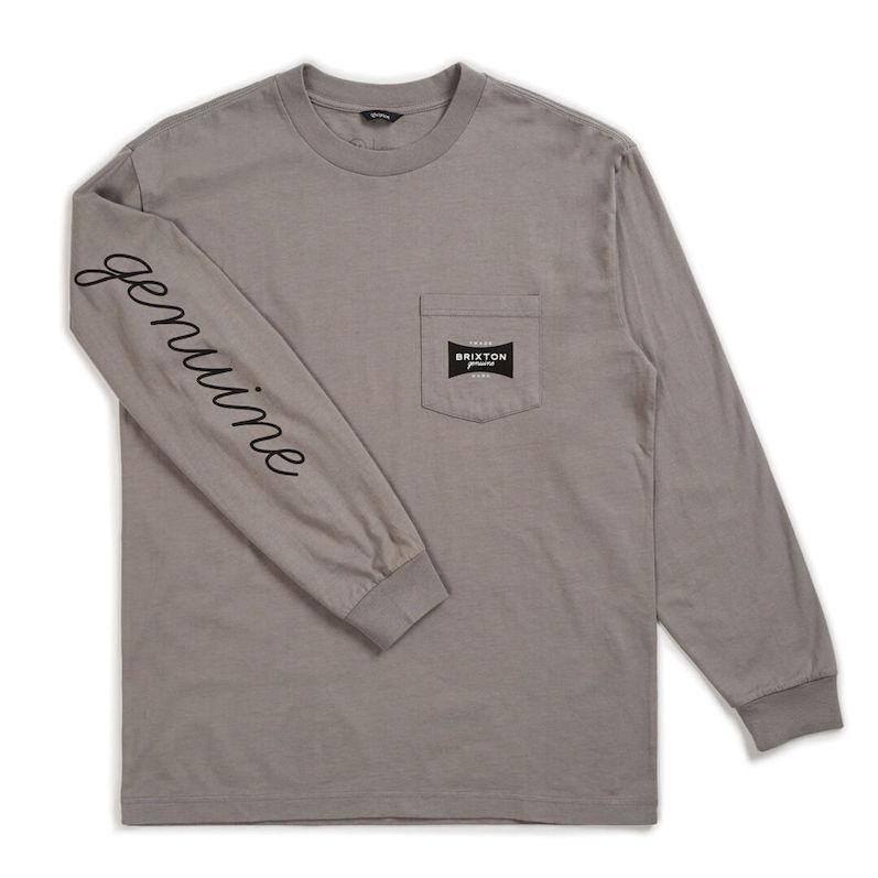 Brixton Ramsey II Pocket L/S T-Shirt Cement M Tシャツ 送料無料