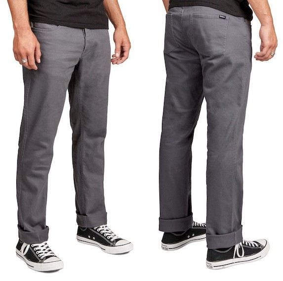 Brixton Reserve 5 Pocket Pant Grey W28 チノパン 送料無料