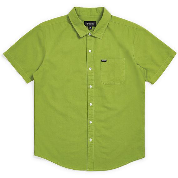 Brixton Charter S/S Woven Shirt Grass Green M シャツ 送料無料