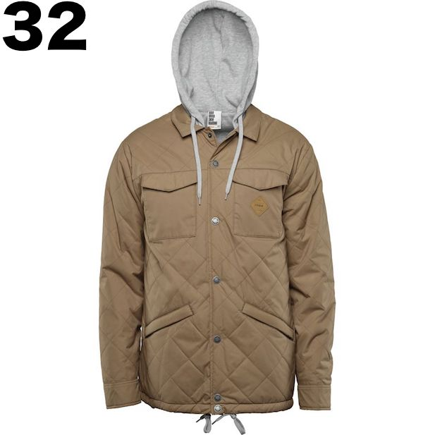 16-17 ThirtyTwo Myder Hooded Jacket Clove M