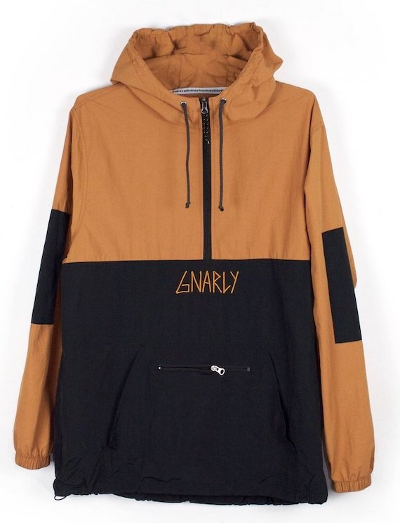 Gnarly Danorak Jacket Brown M パーカー 送料無料
