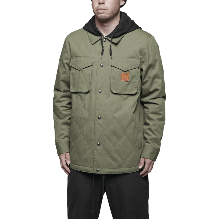 17-18 ThirtyTwo Myder Hooded Jacket Fatigue S 送料無料