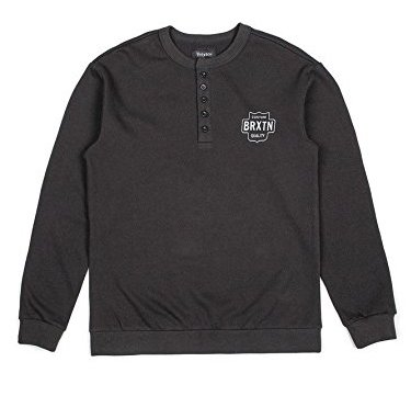 Brixton Garth Henley Crew Fleece Black M