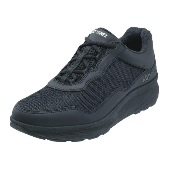 歩幅ぐんっ 足がすっとウンドウ効果を高める健康モデル ヨネックス 早割クーポン レディース ウォーキングシューズ パワークッションLC108 送料無料 ブラック 007 SHWLC108 ウィメンズ 大好評です