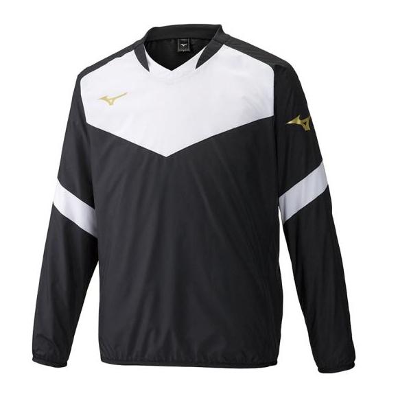 チームにオススメのピステシャツ ミズノ 定価 ピステシャツ P2ME9400 09 ジュニア 予約販売 サッカー ブラック ピステ フットボール