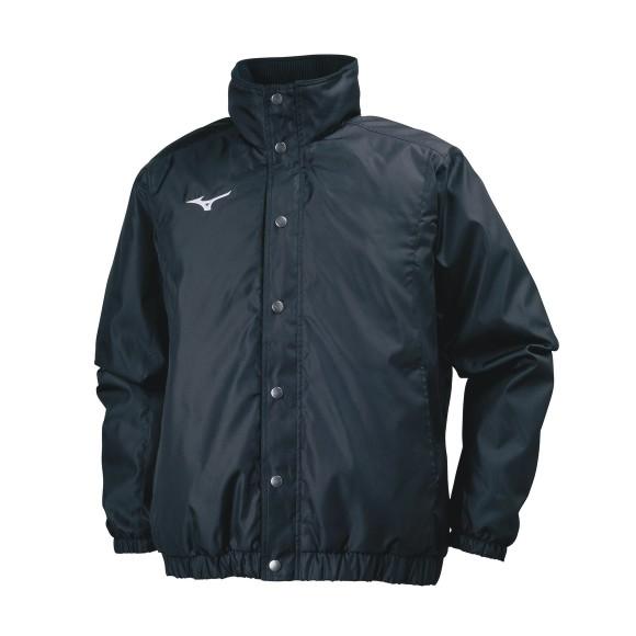 ミズノ 中綿ウォーマーシャツ 32JE7551 09 ブラック ユニセックス