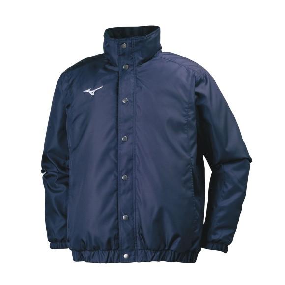 ミズノ 中綿ウォーマーシャツ 32JE7551 14 ディープネイビー ユニセックス