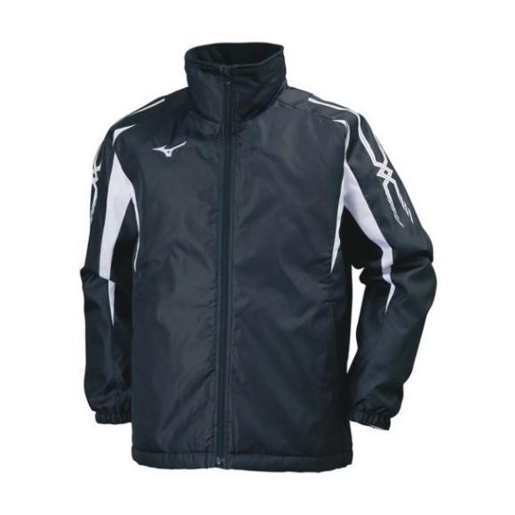 ミズノ 中綿ウォーマーシャツ 32JE7553 09 ブラック×ホワイト ユニセックス