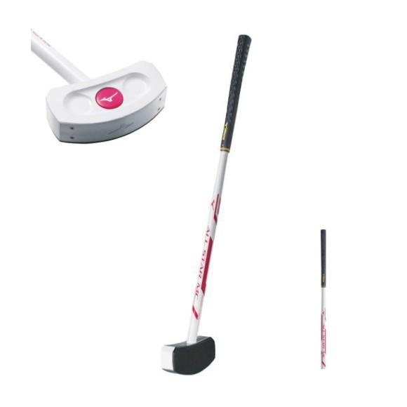 ミズノグラウンドゴルフ クラブ オールスターMC C3JLG802 01 ホワイト×ピンク 82cm ご購入でボールプレゼント