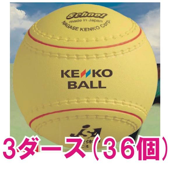 【ナガセケンコー】学校体育ソフトボール検定3号(3ダース) KS12-PUR-3D