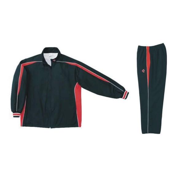 コンバース ウォームアップジャケット&ウォームアップパンツセット ブラック×レッド CB182501S-1964 & CB182501P-1964 ネーム刺繍無料