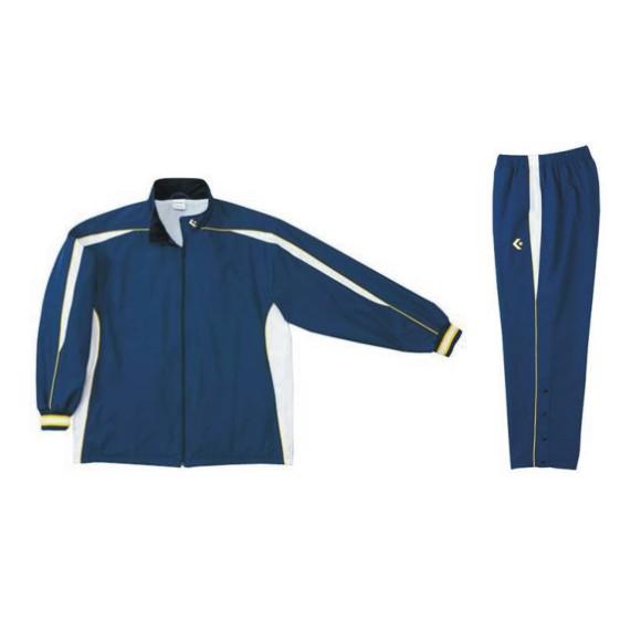 コンバース ウォームアップジャケット&ウォームアップパンツセット ネイビー×ホワイト CB182501S-2911 & CB182501P-2911 ネーム刺繍無料