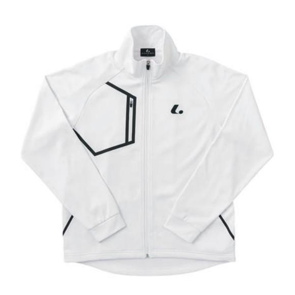 ルーセント Uni ウォームアップシャツ ユニセックス XLW-4800 ホワイト 男女兼用 トレーナー