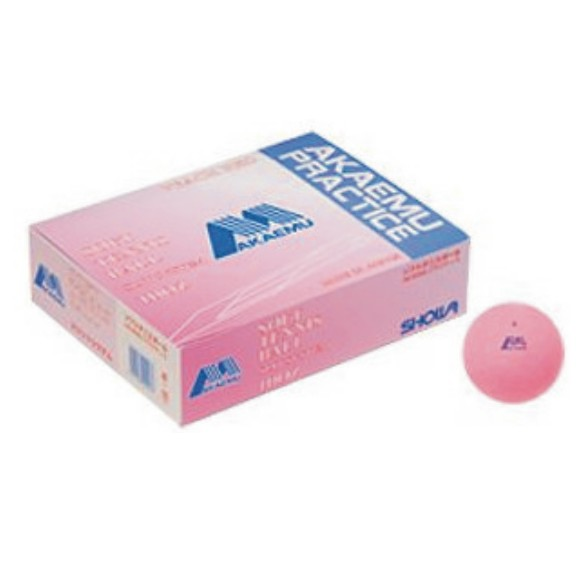 【SHOWA】ショーワコーポレーション アカエムソフトテニスボール練習球(10ダース) M-40100