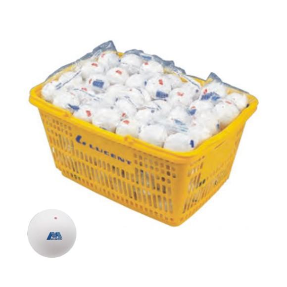【SHOWA】ショーワコーポレーション アカエムソフトテニスボール練習球(10ダース・カゴ入り) M-40030