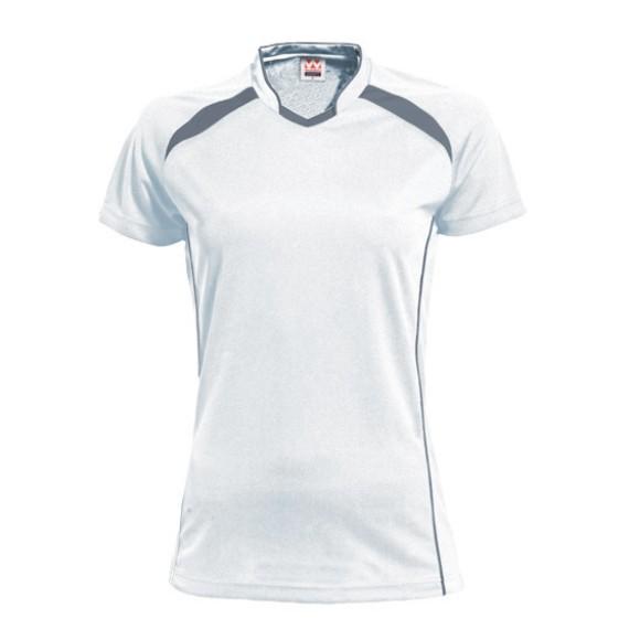 イベント 予約販売 チーム キャンペーンもお見逃しなく 部活 学校 会社などで大活躍 ウンドウ ウィメンズ レディース P1620-60 ホワイト×ダークグレー wundou バレーボールシャツ