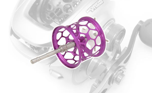 Avail(アベイル) 09アルデバランMg・10スコーピオンXT1000用 軽量浅溝スプール Avail Microcast Spool ALD0918TR (溝深さ1.8mm) パープル *