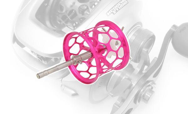 Avail(アベイル) 09アルデバランMg・10スコーピオンXT1000用 軽量浅溝スプール Avail Microcast Spool ALD0918TR (溝深さ1.8mm) ピンク *