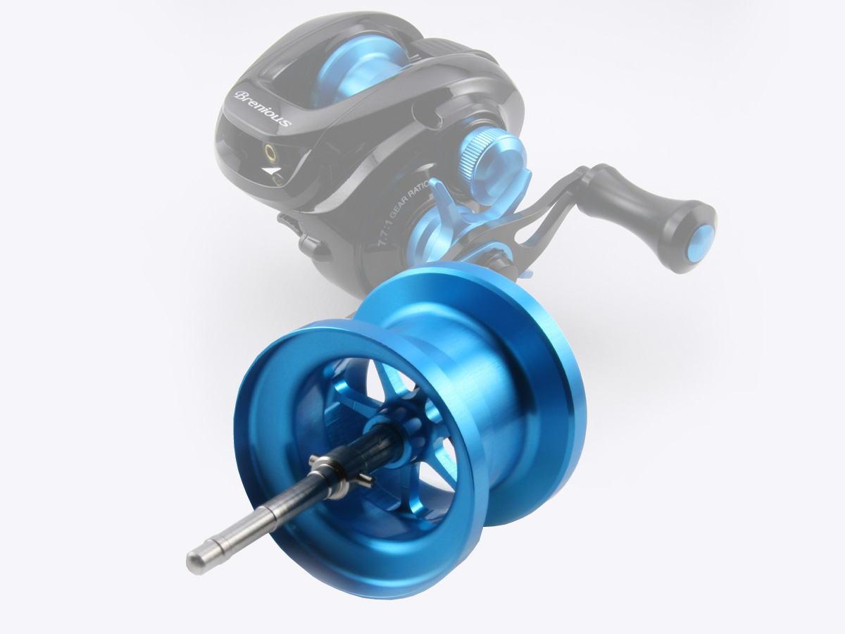 Avail(アベイル) 14ブレニアス用 軽量浅溝スプール Avail Microcast Spool BRN1448R (溝深さ4.8mm)スカイブルー *