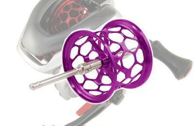Avail(アベイル) 13メタニウム用 軽量浅溝ハニカムブランキングスプール Avail Microcast Spool MT1326RR(溝深さ2.6mm) パープル *