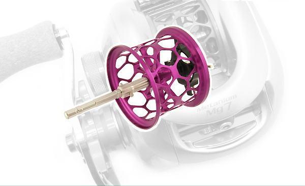 Avail(アベイル) 07メタニウムMg用 NEW軽量浅溝ハニカムスプール Avail Microcast Spool MT0726RR (溝深さ2.6mm) パープル *