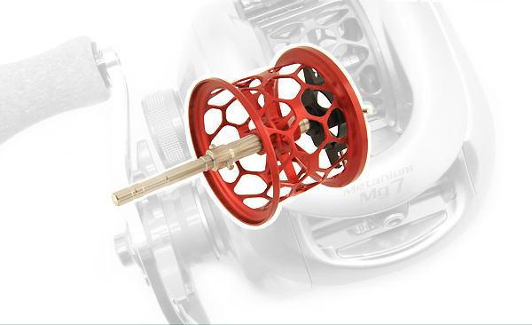 Avail(アベイル) 07メタニウムMg用 NEW軽量浅溝ハニカムスプール Avail Microcast Spool MT0726RR (溝深さ2.6mm) レッド *