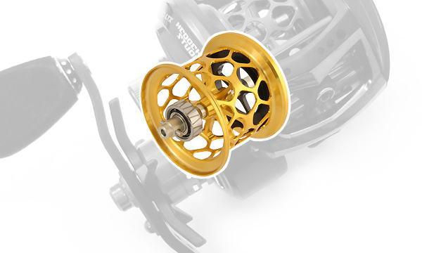 Avail(アベイル) 【Abu/アブ】 Revo・レボ LTX・LTZ・LT用 軽量浅溝スプール Avail Microcast Spool RVLTX32RR (溝深さ3.2mm) ゴールド *