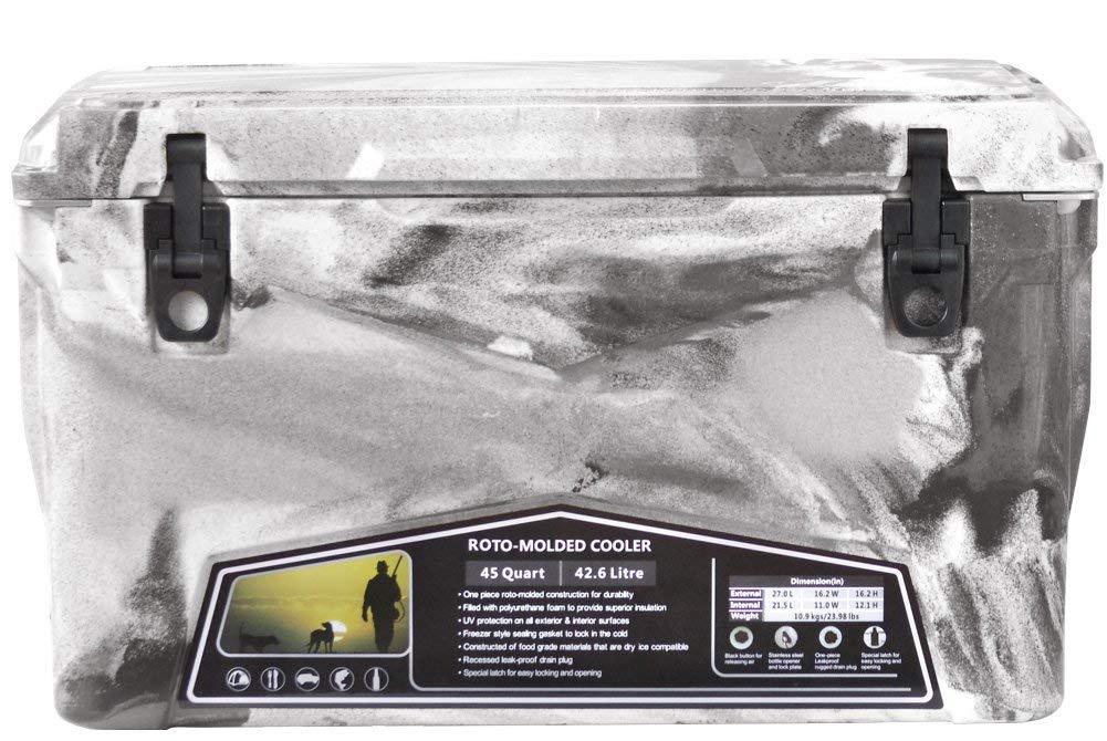 Iceland Cooler Box/アイスランドクーラーボックス グレー&ホワイトカモ 45qt/42.6L 【日本正規品】