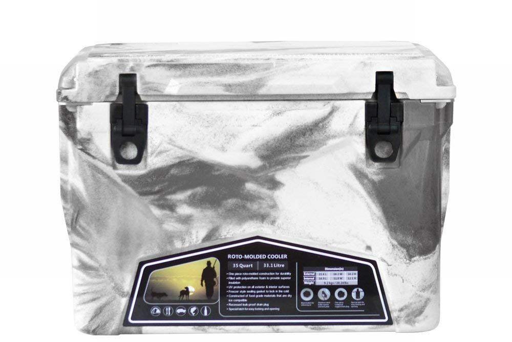 Iceland Cooler Box/アイスランドクーラーボックス グレー&ホワイトカモ 35qt/33.1L 【日本正規品】