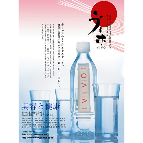 (50)【送料無料】ナノクラスター水 VIVO(ヴィボ)(500ml×24本)×2ケース