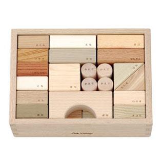【あす楽対応】知育玩具 オークヴィレッジ(Oak Village) 寄木の積み木(箱入)