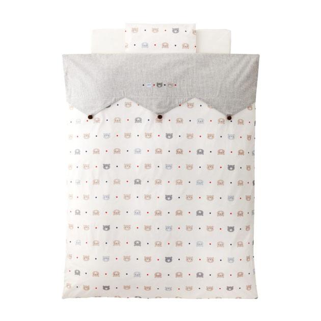 【受注生産】ベビー組布団 赤ちゃんの城 森のくまさん 布団5点セット ダクロン フレッシュ