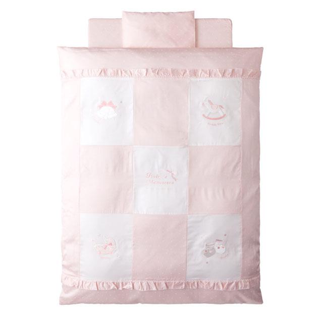 ベビー組布団 赤ちゃんの城 人気海外一番 税込 プリエ 布団5点セット ピンク 05030 羽毛