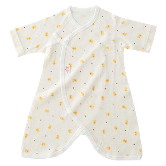 あす楽対応 新生児ウエア 赤ちゃんの城 卓越 フライス セール 登場から人気沸騰 ひよこ コンビ肌着