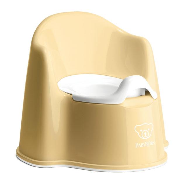 トイレ用品 BabyBjorn Potty Chair (ベビービョルン ポッティ チェア) イス型オマル パウダーイエロー/ホワイト